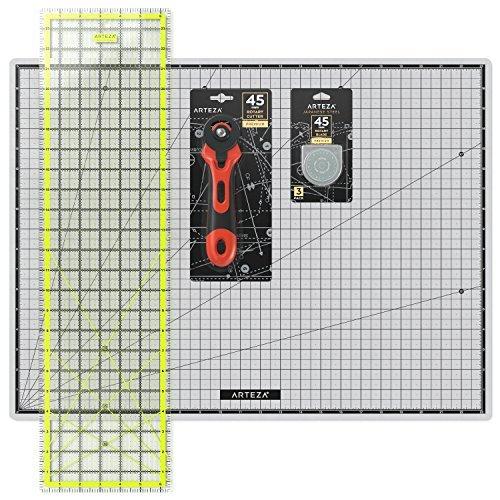 Arteza - Kit de corte de telas con cutter circular...