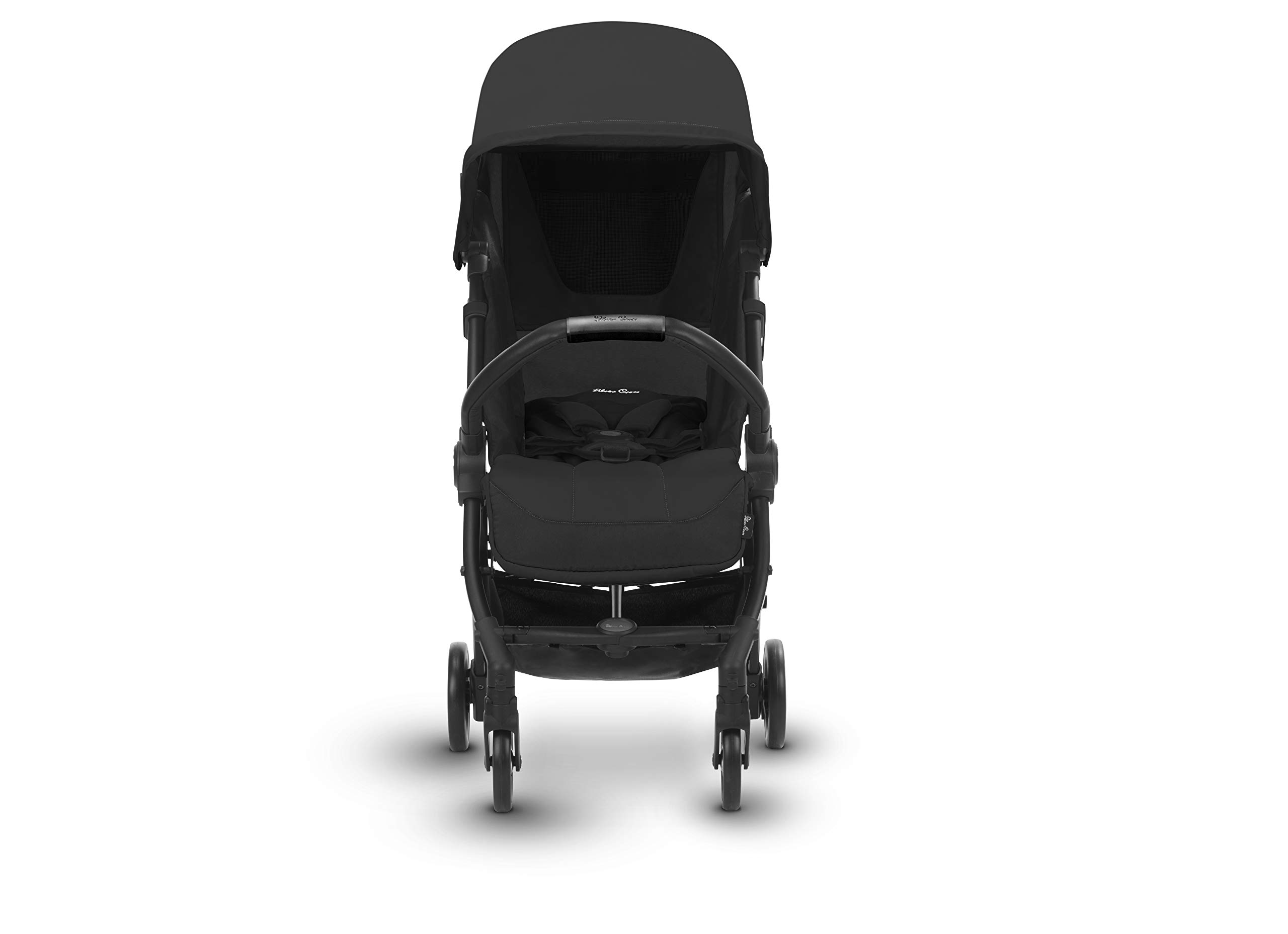 Silver Cross Jet Stroller, Ebony Silver Cross Ultra compact and light travel stroller Cabin approved. Folded Dimensions- 18 cm D x 30 cm W x 55 H cm Suitable from birth 6