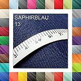 1buy3 10 Lfm Oxford 600D Farbe 13 | Saphirblau | Polyester