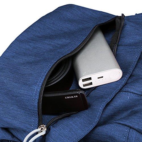 Mountaintop 25L/30L dauerhaft lässig Daypack Studenten Rucksack ideal für die Uni lässige Tasche, 44 x 28 x 13 cm/33x19x50 cm Saphirblau