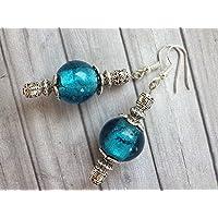 Orecchini Thurcolas dalla gamma Venezia in perline in vetro blu Murano