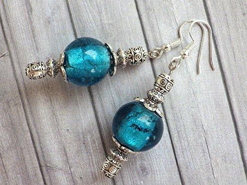 Thurcolas Ohrringe aus dem Venezia Sortiment in blauen Murano Glasperlen
