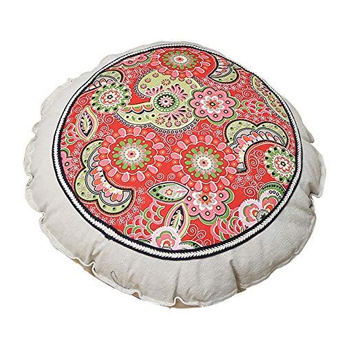 MARXHOT Runde verdicken Boden Kissen Indoor/Outdoor Stuhl sitzkissen Tatami futon bucht Fenster pad Yoga Matte für wohnkultur (Durchmesser 55 cm),001 -
