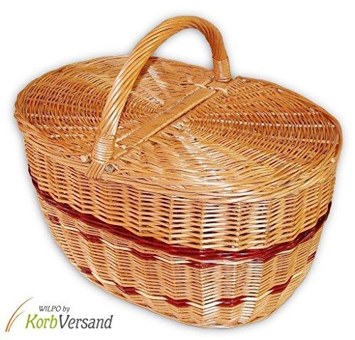 Wilpo Panier de picnic Panier d'achats Saule 41x29x37 Panier à champignons Paniers pour automobile Panier de transport Panier en saule