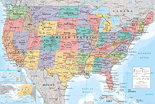 GB eye 61 x 91.5 cm USA Map Maxi Poster