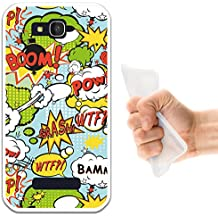WoowCase Funda Alcatel One Touch Pop C7, [Alcatel One Touch Pop C7 ] Funda Silicona Gel Flexible Comic Style Explosiones, Carcasa Case TPU Silicona - Transparente