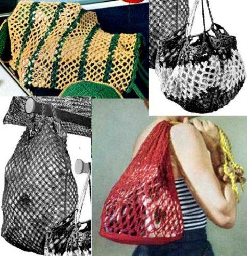 Maschenweite stylte Einkaufstaschen für häkeln und Wäschebeutel für häkeln