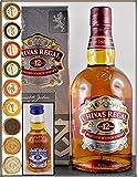 Chivas Regal 12 Jahre Scotch Whisky 0,7 Liter mit Miniatur Chivas Regal 18 Jahre 5cl & 9 DreiMeister Edel Schokoladen, kostenloser Versand