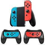 Grip Per Controller Switch Joy-Con,3 Pezzi Impugnatura Timoom Compatibile Nintendo Switch Con il palmo ricurvo per ridurre la