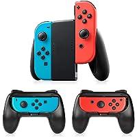 Timoom Manettes Switch Joy-Con Grips, 3 Psc Manette Nintendo Switch Coque de Protection Contrôleur Jeu Poignées Kit…