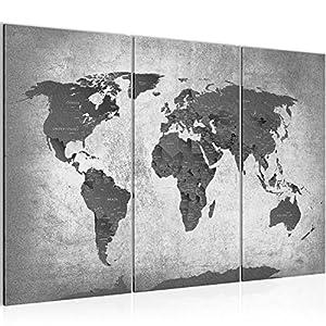 Bilder Weltkarte World Map Wandbild 120 X 80 Cm Vlies   Leinwand Bild XXL  Format Wandbilder