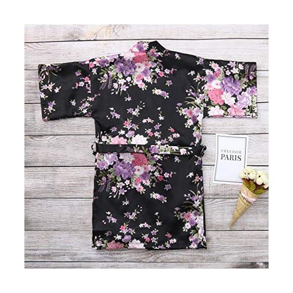 Vectry Abrigo Bebé, Niña Ropa Infantil Otoño Invierno Floral Seda Satén Kimono Albornoces Albornoz Ropa De Dormir Ropa… 5
