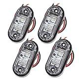 Proster 4 PZ Luce Laterale da Camion Indicatore Anteriore LED Lampada di Posizione per Camion Furgone Rimorchi Auto 12V 24V