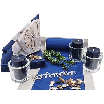 Amazon De Tischdeko Kommunion Konfirmation Blau Fisch Deko Set Fur