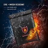 Glaray Sicherheit Feuerfeste Dokumententasche Wasserdichte Aufbewahrungstasche für Geld Schmuck Legal Documents Lipo Batter (380x280mm, 1pc)