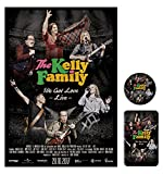 The Kelly Family - We Got Love Live - Movie Poster Magnet Button Bundle