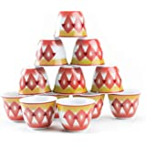 Alrimaya Arabian Coffee Cups set, 12 Pieces, Porcelain