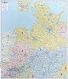 Postleitzahlenkarte Nord-West, 1:350 000, Posterkarte (Schleswig-Holstein, Hamburg, Niedersachsen, Bremen) - BACHER Verlag GmbH