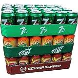 Seven Up, Mirinda Orange & Schwip Schwap je 24 x 0,33l Dose XXL-Paket (72 Dosen gesamt)