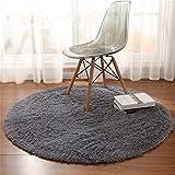 Teppich Europäischen Stil Runde Teppich, Yoga-Matte, Hängende Korb Rattan Stuhl Kissen, Computer Stuhl, Bodenmatte, Wohnzimmer Couchtisch Schlafzimmer Teppich (Farbe : A, größe : Diameter-140cm)
