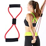 KS HEALTHCARE Resistance 8 Type Muscle Chest Expander Rope Workout Pulling Exerciser Fitness Exercise Tube Sports Yoga...