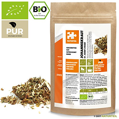 250 g Johanniskraut Geschnitten Bio - Im Aromadichten & Wiederverschließbaren Beutel - Naturteil