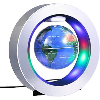 Magnétique Globe Lévitation Tournant 4 Pouces Carte du Monde de la Terrestre  Flottante d antigravité pour Cadeau d Enfants Décoration de Bureau Maison e6927da0341a
