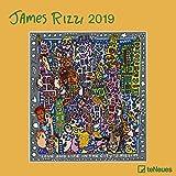 James Rizzi Broschurkalender - Kalender 2019 - teNeues-Verlag - Wandkalender mit Platz für Eintragungen - 30 cm x 30 cm (offen 30 cm x 60 cm)