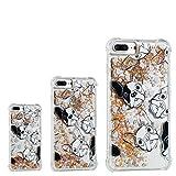 LuckyW iPhone 7 Plus Hülle Flüssig, Silikon Transparent Flüssigkeit Handyhülle für Apple iPhone 7 Plus/8 Plus (5.5 Zoll) Bling Glitzer Fließend Schwimmend Treibend Dynamisch Schutzhülle - Hund