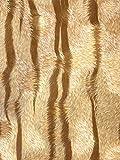 Exklusive Luxus Tapete Profhome 822602 Vinyltapete geprägt mit Tigerstreifen glänzend beige creme-weiß bronze 5,33 m2