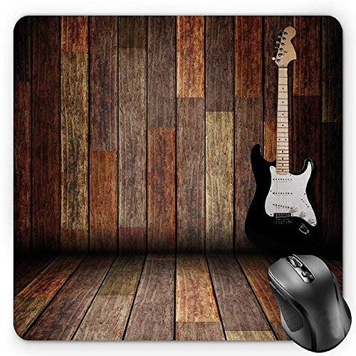 Popstar Party, Electric Guitar in The Wooden Room Country House Interior Music ThemeBrown Black White - Popstar Guitar