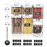 LIVEHITOP Set di 6 Contenitori per la conservazione degli alimenti - Contenitori per cereali la pasta con Coperchi Contenitore di stoccaggio ermetico Senza BPA per Noccioline