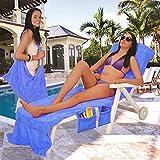 Lounge-Mate Strandtuch Sonnenliege für die ganze Garten Lounge mit Taschen, Blau