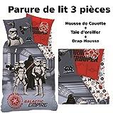 STAR WARS - Parure de lit (3pcs) 100% Coton - Housse de Couette (140x200) + Taie d'Oreiller (63x63) + Drap housse (90x190) - DARK SIDE