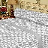 DAGOSTINO HOME Juego de Sabanas para cama de 90, Diseño Neon Sage, Composicion, 50% Poliester/50% Algodón, Compuesto por Funda de almohada, Encimera y Bajera.