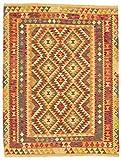 CarpetFine Kelim Afghan Teppich 127x164 Multicolor - Geometrisch