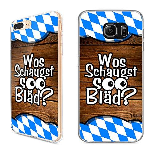 Hülle Bayrische Sprüche für Samsung Silikon Bayern Wiesn Bairisch Oktorberfest, Hüllendesign:Design 2   Silikon Klar, Kompatibel mit Handy:Samsung Galaxy S10e
