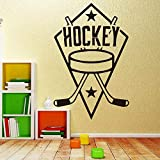 Klassische Hockey Vinyl Wandaufkleber für Jungen Schlafzimmer Dekoration Hintergrund Dekorative...