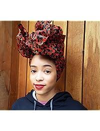 Gitas Portal - Pañuelo para la cabeza - para mujer Rojo negro Talla única