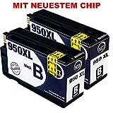 N.T.T. 2x Tintenpatronen kompatibel zu HP950 HP-950-BK ( 2 Schwarz ) kompatibel zu HP OfficeJet Pro 8600, 8610, 8620, 8630, 8640, 8660, 8615, 8625, 8100, 251dw, 271dw Druckerpatronen kompatibel zu HP-950-XL
