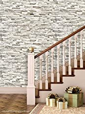 PPD Brick Wallpapers. High Quality Stone Brick Wall Effect Pre Gummed Wallpaper (Self Adhesive)
