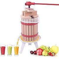 Aufun Pressoir à Fruit 6L Fruit jus Manuel Presse à vin Presse-Agrumes Baies mécanique Presse Winepress Fruchtpresse