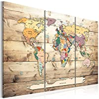 World map with pinboard k-A-0120-v-a