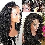 Deep Wave 100% brésilienne Remy Cheveux humains Dentelle intégrale ondulée bouclés Naturel Noir avec des cheveux de bébé Pre-plucked Hairline pour femme