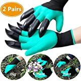 EFG Gardening Gloves With Claws for Digging & Planting - 2 pairs