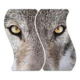 'Cubiertas de cristal decorativa 'lobo Retrato de cristal M. Noppen, enmarcado) y 2piezas,...
