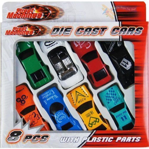 8 Pcs Die Cast Racing Car Vehicle Play Set Cars Kids Boys Toy