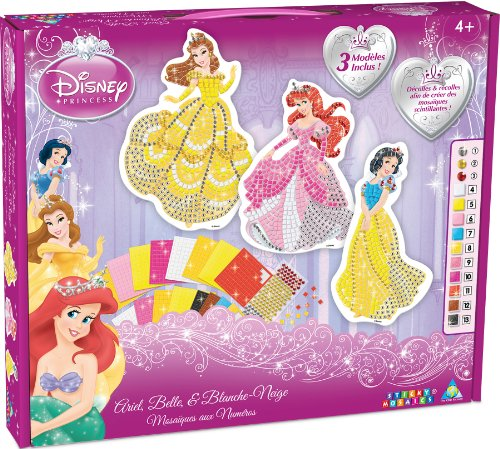 Orb Factory ORB11091 – Creative Crafts – Disney Princesses: Ariel, Belle, Snow White – Self-Adhesive Sticky Numbers Mosaic