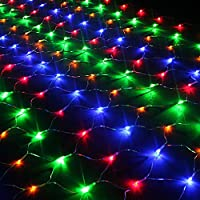 Vectri 3M x 2M LED Net Fairy Lights / LED Night Light / Christmas Decoration Lights / Xmas Wedding Curtain String Lights Ropes/ Garden / Hotel / Festival / Party Decoration Mood Lights / Outdoor Lighting Lamp / Wedding Lights8 Modes (320 LEDs, Multicolor)