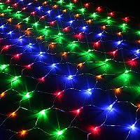 Vectri 3M x 2M LED Net Fairy Lights / LED Night Light / Christmas Decoration Lights / Xmas Wedding Curtain String Lights Ropes/ Garden / Hotel / Festival / Party Decoration Mood Lights / Outdoor Lighting Lamp / Wedding Lights8 Modes (320 LEDs, Multicolor)
